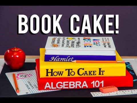 How To Make A BACK-TO-SCHOOL BOOK CAKE Chocolate cakes inspired by the AsapSCIENCE Book