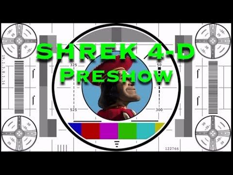 Shrek 4-D Complete Preshow Attraction...