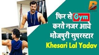 फिर से Gym करते नजर आये भोजपुरी सुपरस्टार Khesari Lal Yadav Planet Bhojpuri