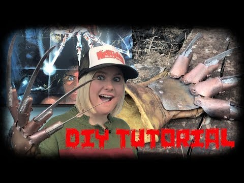 FREDDY KRUEGER DIY GLOVE STEP BY STEP!!!