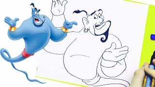 NEW Learn How To Draw Genie From Aladdin Step by Step Easy Drawing Disney Aladdin