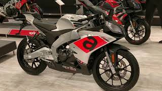 Aprilia RS150 fully faired 150cc Bike : Full details, Specs : Auto Expo 2018 #ShotOnOnePl