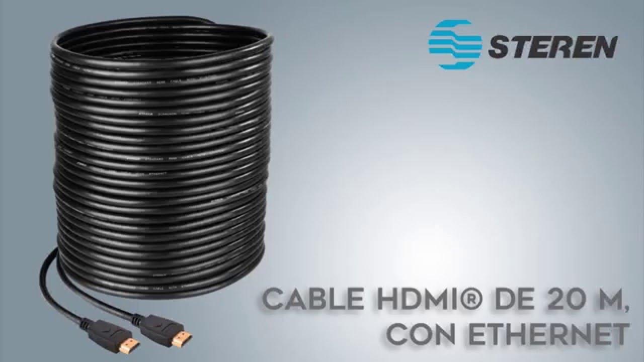 Cable hdmi de 20 metros de longitud steren youtube - Cable ethernet 20 metros ...