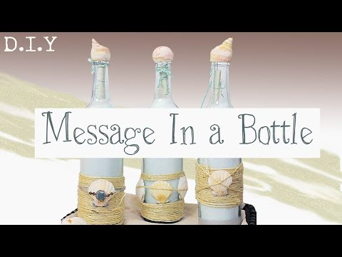 Easy Recycled Wine Bottle Gift DIY