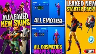*NEW* Fortnite ALL Leaked Skins & Emotes In Game! (Sky Walker, Moon Bounce, Recon Ranger, Oppressor)