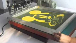 Vacuum Screen Printing Press.wmv