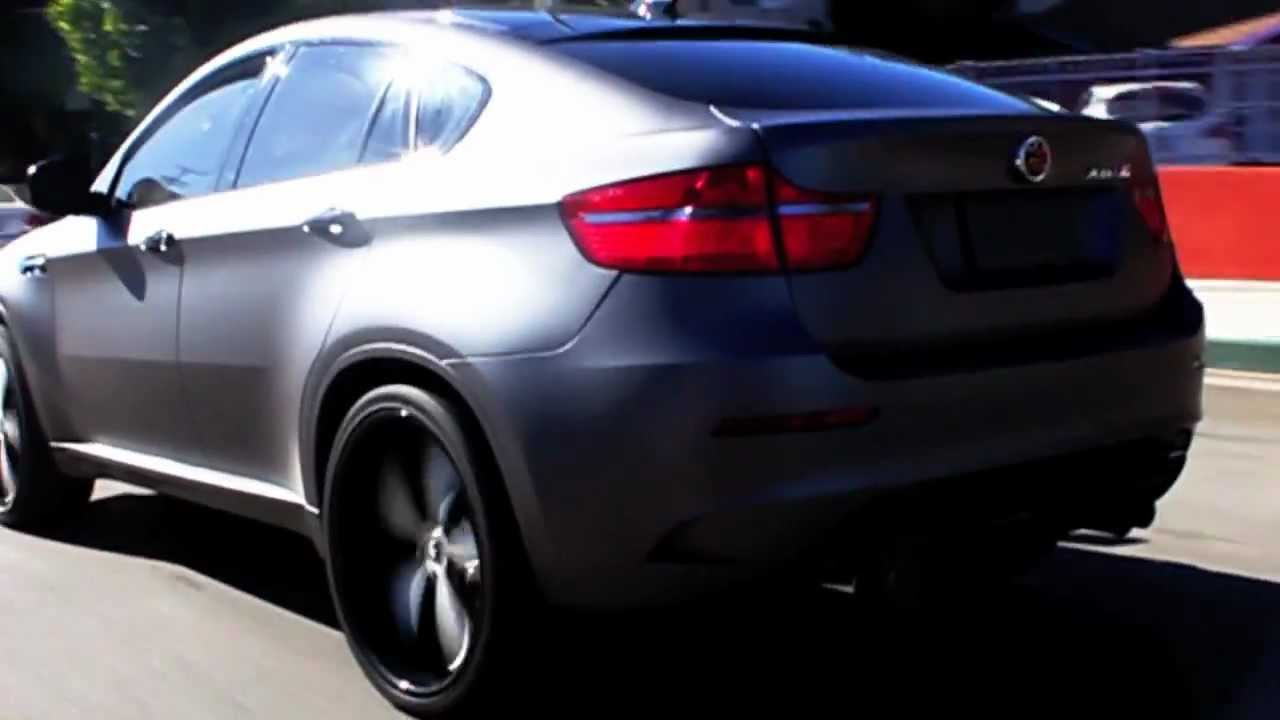 Bmw X6m Wrapped It Mettalic Matte Grey By Dbx Sex6m Youtube