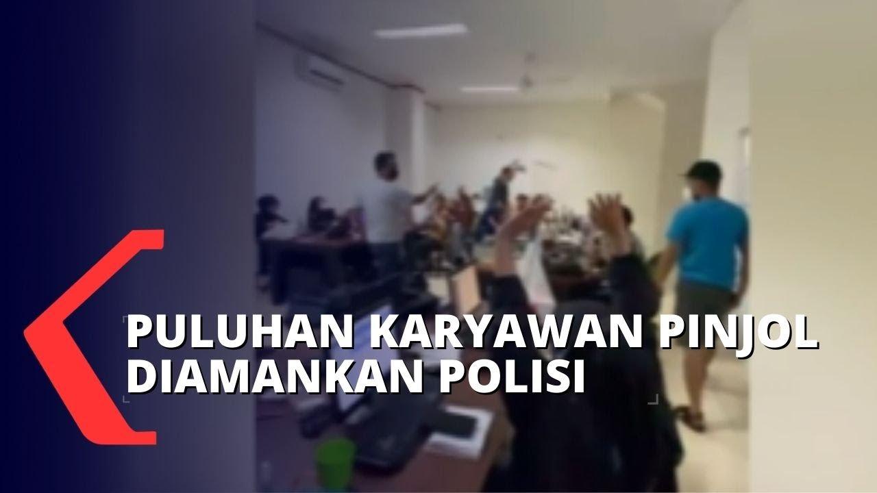 Download Gerebek Kantor Pinjaman Online, Polisi Amankan Puluhan Karyawan dan Debt Collector!
