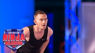 Ninja run: Stuart Furze (Grand Final - Stage 1) | Australian Ninja Warrior 2018