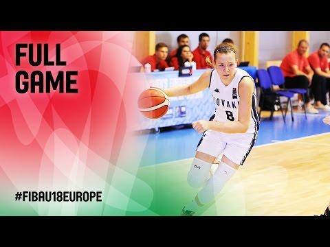 Slovak Republic v Netherlands - Full Game - CL 15-16 - FIBA U18 Women's European Championship 2016