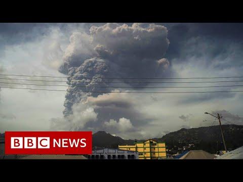 Caribbean volcano eruption sparks mass evacuation in St Vincent - BBC News