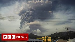 Caribbean volcano eruption sparks mass evacuation in St Vincent - BBC News