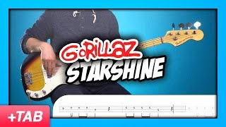 Gorillaz - Starshine   Bass Cover with Play Along Tabs
