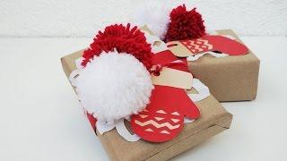 Оформление подарка на Новый год и Рождество // Christmas gift wrapping ideas(Праздничная упаковка подарков своими руками. Подготовка к Новому году и Рождеству., 2016-12-16T21:36:40.000Z)