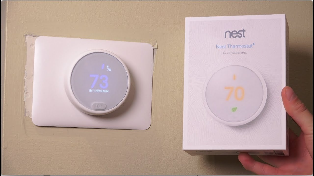nest thermostat e unboxing and setup