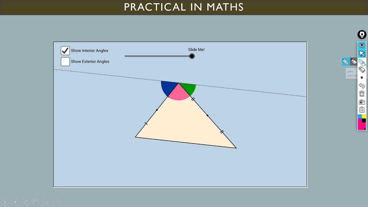 show that sum of angle of triangle is 180 | Angle Sum property of a  Triangle | Interior and Exterior