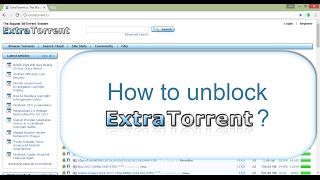 How to Unblock Extratorrents (using google chrome ) ?