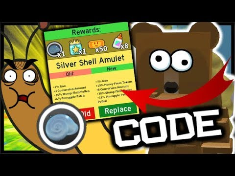 *NEW* CODE & SILVER STUMP SNAIL AMULET! | Roblox Bee Swarm Simulator