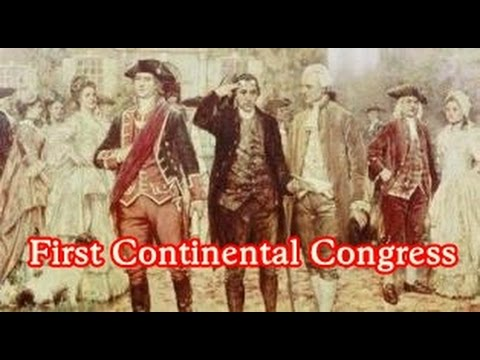 History Brief: The First Continental Congress