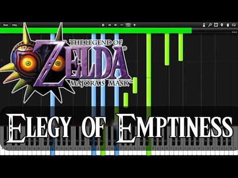 Zelda Majora's Mask - Elegy of Emptiness (Synthesia)