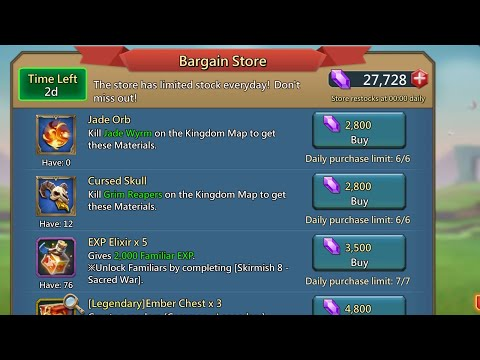 BARGAIN STORE: What You SHOULD Get! Lords Mobile