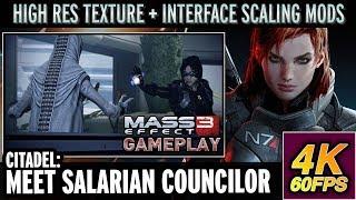 Mass Effect 3: 4K/60FPS PC Gameplay (Insanity) | Hi-Res Textures | Citadel: Meet Salarian Councilor