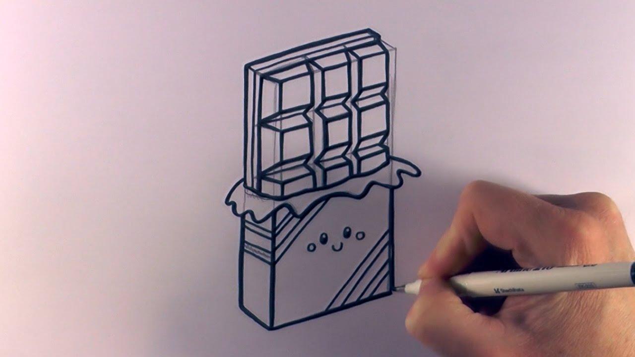 How to Draw a Cartoon Chocolate Bar - YouTube
