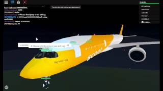 roblox scoot airlines A350 flight part 1