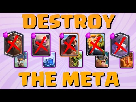 CAN WE DESTROY THE META?! | Anti-Meta Deck And Tips | Clash Royale