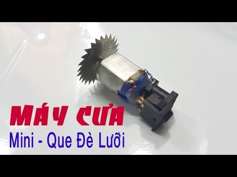 Máy cưa cầm tay siêu Mini từ motor 3v - Cắt que kem, que đè lưỡi
