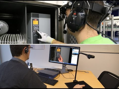 Live remote video technical support service with Augmented Reality