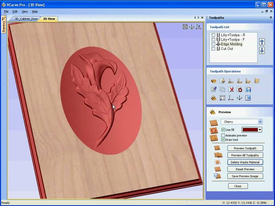 VCarve Pro - Machining 3D Door panel