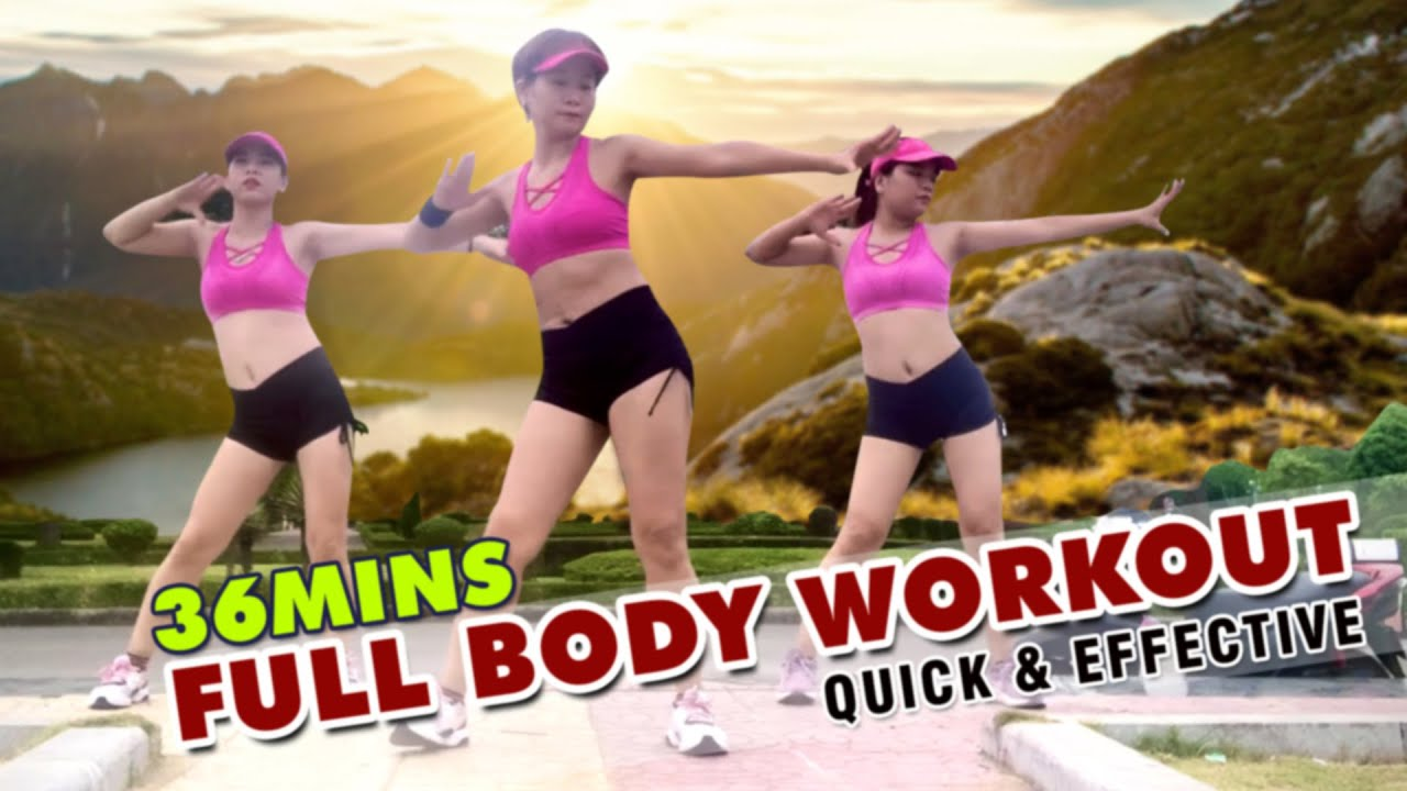 36 Mins Aerobic Full Body Workout - QUICK & EFFECTIVE l Aerobic Dance