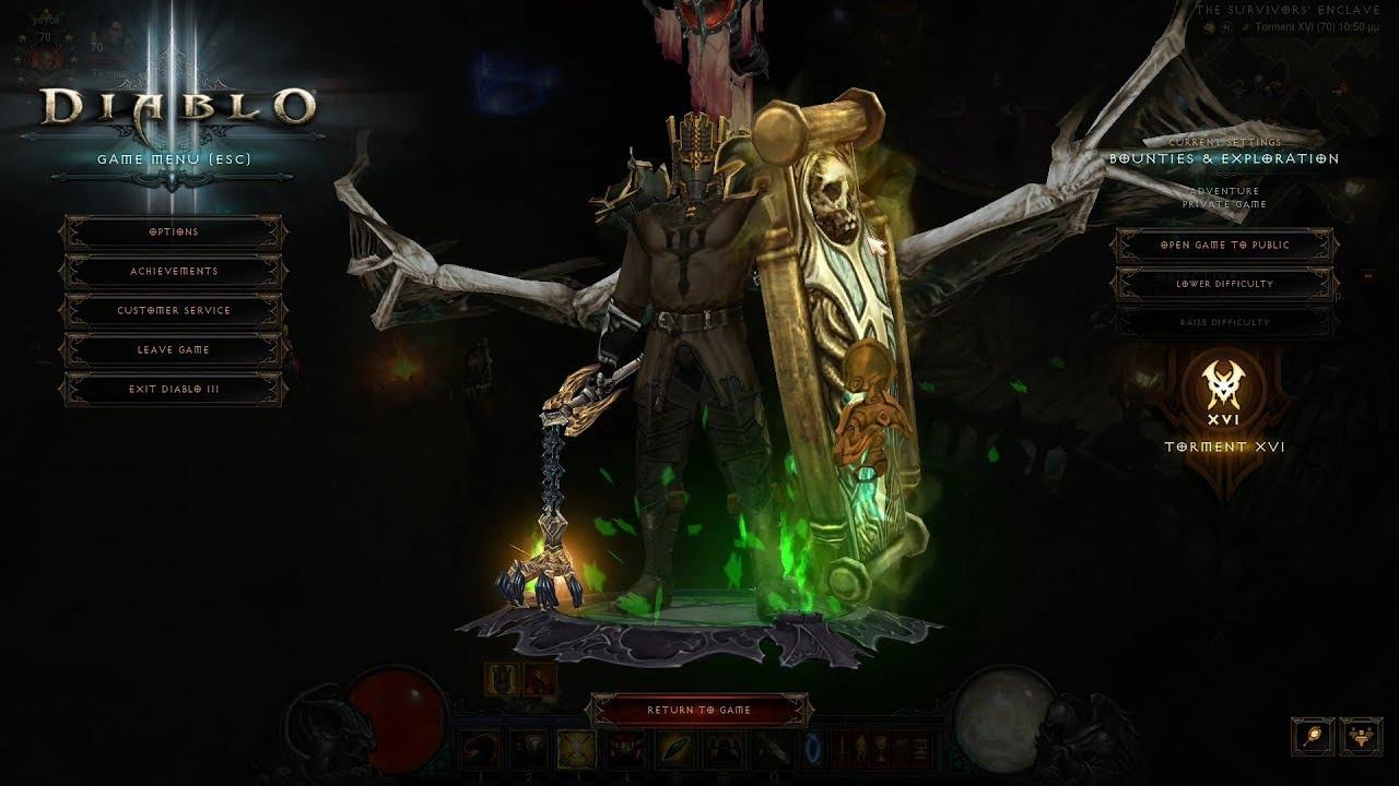 Diablo 3 Season 17 GR 108 Para 860 LON Blessed Shield Crusader