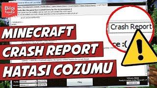 Minecraft Crash Report Hatasının Çözümü! - 2018