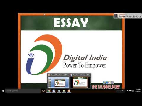 ESSAY on DIGITAL INDIA - SSC CGL TIER III