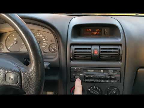 OPEL WAUXHALL ASTRA G CAR 300 decoding the radio