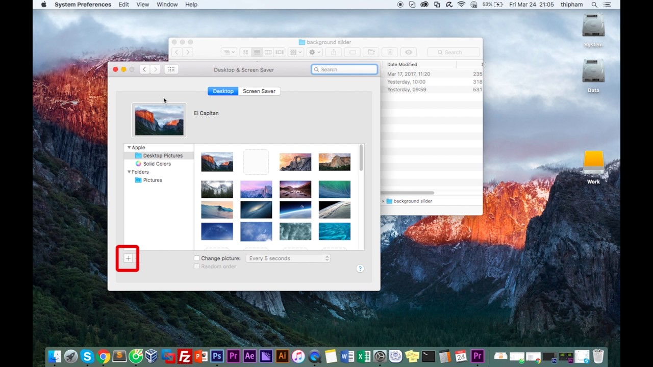 how to create a desktop background slideshow macbook- mac os x - youtube
