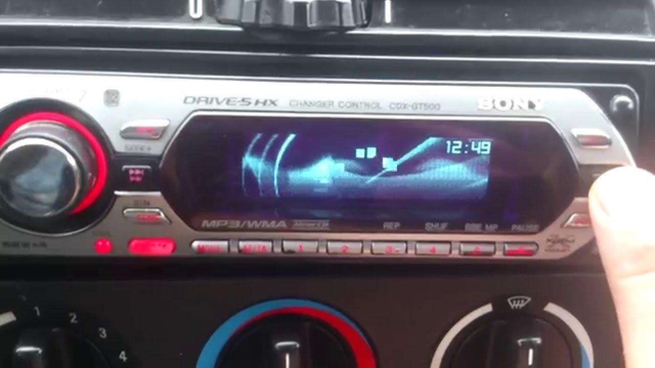 radio sony xplod cdx gt500 4x52 animacje youtube