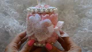 Shabby Chic Large Wooden Lace Spool And Treat Bags For Bonnie