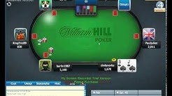Final table Sit n go William Hill Poker