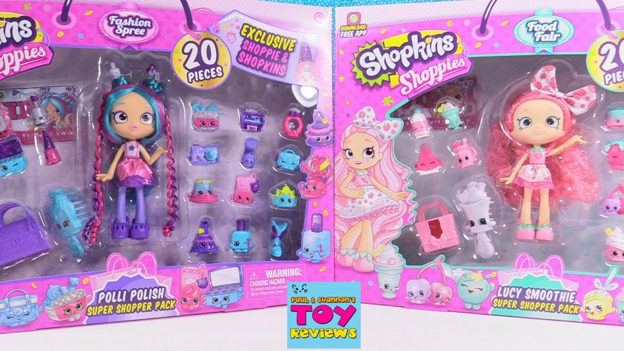 Shopkins Shoppies Lucy Smoothie Doll with 2 Exclusive Shopkins