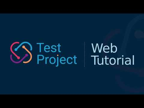 How to Create Web Tests with TestProject