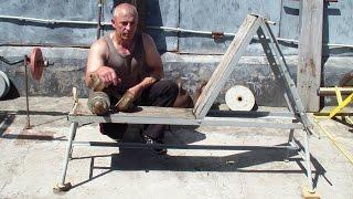 Регулируемая скамья для силовых упражнений. Обзор(Тренажерный зал своими руками: https://www.youtube.com/playlist?list=PLG79zRvLxh458NUCNKf-XOmQP7yJ6sWM0 У нас Вы можете заказать ..., 2016-08-03T09:30:01.000Z)