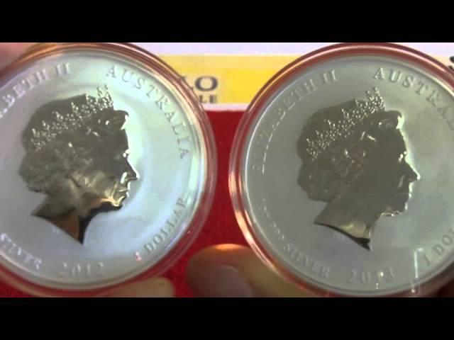 Die Silbermünze der Perth-Mint für 2013 - Die Lunar Schlange - nur 300.000 St. weltweit verfügbar