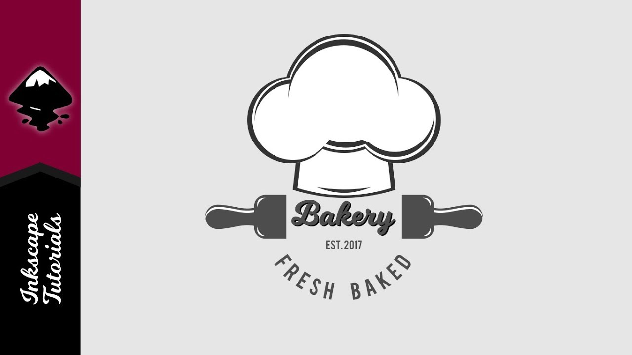 inkscape tutorial create a vector chef hat bakery logo episode 29