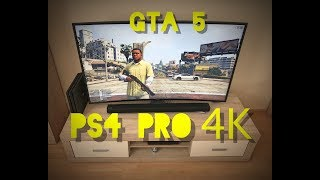 GTA 5 Gameplay PS4 PRO - 4K on 55