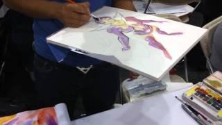 Francis Manapul watercolor painting at NYCC 2010 Part 1