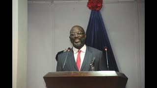 President George Weah's First Annaul State of The Nation Address - Monday Jan. 29, 2018