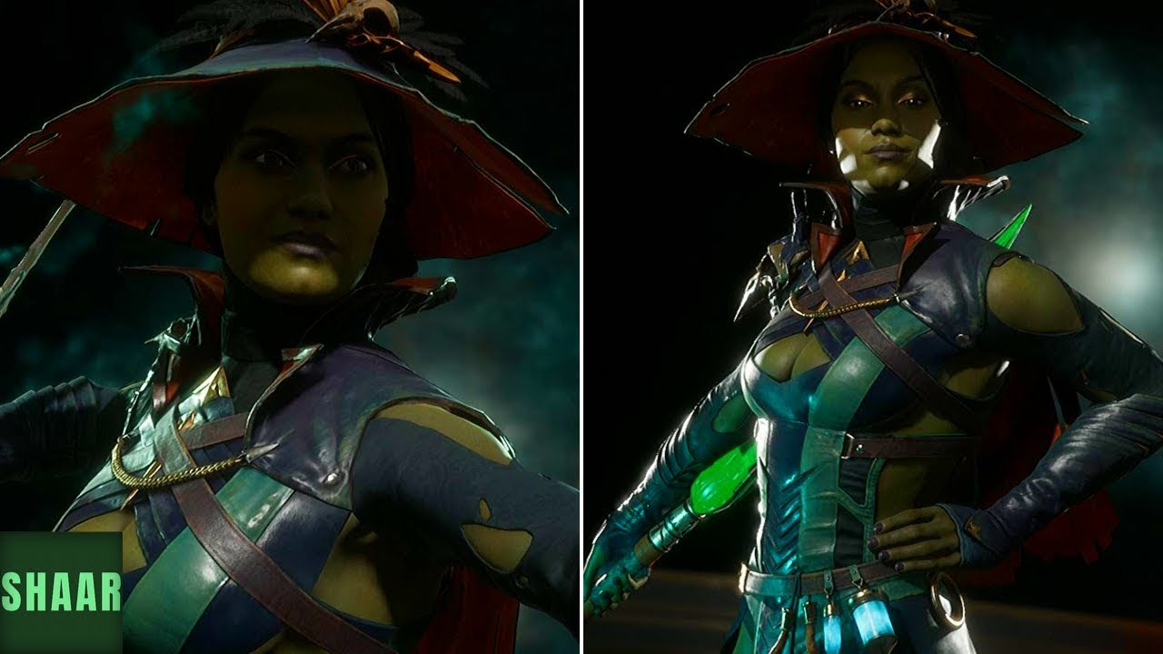 Mortal Kombat 11 Wicked Witch Jade Skin Showcase All Intros And
